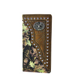 BROWN DEER MOSSY CAMO WESTERN MENS CHECKBOOK WALLET MW2-0494BRN