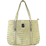 GOLD  FLAT STUDDED DIAMOND DESIGN LOOK SHOULDER HANDBAG WITH ATTACHABLE POUCH HB1-189GLD