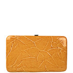 ORANGE CROCODILE LEATHERETTE LOOK FLAT THICK WALLET FW2-3609ORG