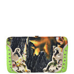 GREEN MOSSY CAMO STUDDED LOOK FLAT THICK WALLET FW2-3611GRN