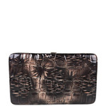 BRONZE CROCODILE LEATHERETTE LOOK FLAT THICK WALLET FW2-3615BRN
