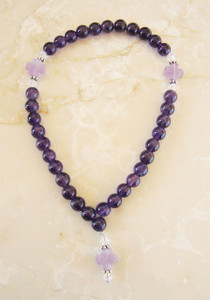 Amethyst Cross Prayer Rope