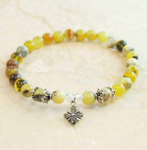 Yellow Opal Prayer Bracelet