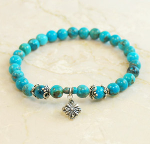 Kingman Turquoise Prayer Bracelet