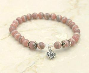 Rhodochrosite prayer bracelet