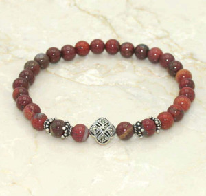 Apple Jasper Prayer Bracelet