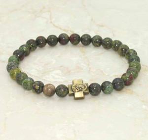 Dragon Jasper Prayer Bracelet