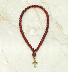 Red Agate 50-Bead Prayer Rope