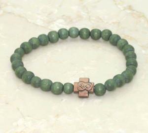 Green Wood Bead Prayer Rope