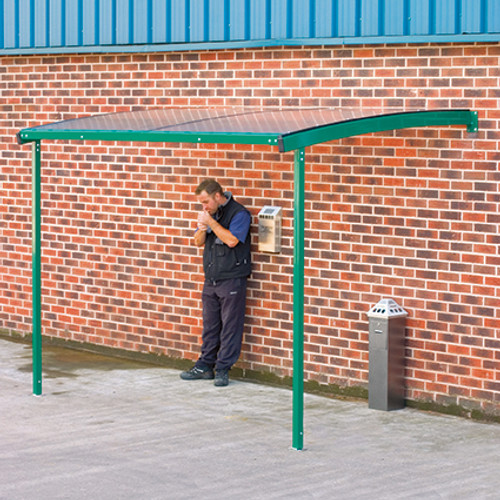 Large wall mounted smoking shelter