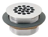 Haws 6463 Vandal-Resistant Waste Strainer Satin Chrome