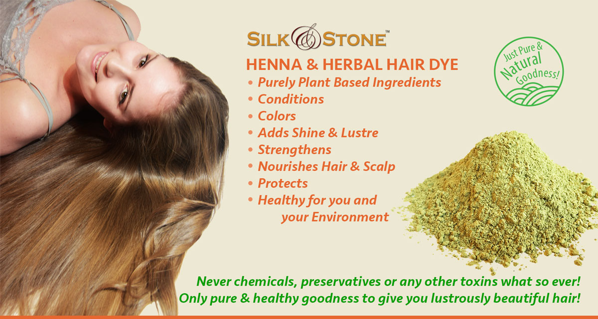 Mehndi Ingredients For Hair : Silk stone herbal henna hair dye all natural