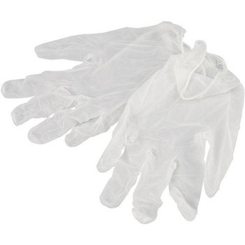 Vinyl gloves- 1 pair, medium