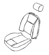 Seat Foam Kit TR6 73-76,SFK2021-2