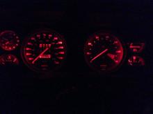 Triumph LED dash lights Red