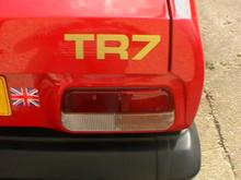 1978-1981 Triumph TR7 OEM Rear Trunk Boot Badge Decal Set