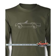 Triumph TR4 / TR5 Convertible Long Sleeves T-Shirt