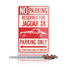 Jaguar XK 120  Coupe Reserved Parking Only Sign