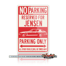 Jensen Interceptor Coupe Reserved Parking Only Sign