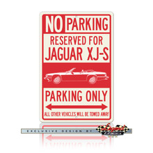 Jaguar XJ-S XJS Convertible Reserved Parking Only Sign