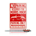 Morris Minor Tourer Convertible Reserved Parking Only Sign