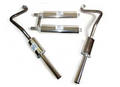 Triumph TR8 Stainless Exhaust System - 2 center mufflers, 2 tailpipe muffler - Twin Exit (RB7312)