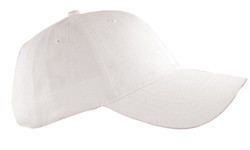 White Peached Cotton Twill Cap