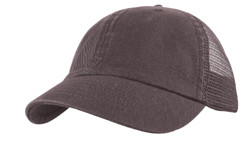 Black Cotton Twill Mesh Cap