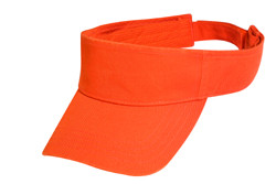 Orange Cotton Visor
