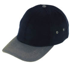 Black/Bronze Microfiber Winter Cap
