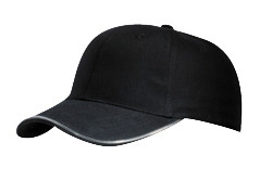 Black Brushed Cotton 3M Scotchlite™ Reflective Cap
