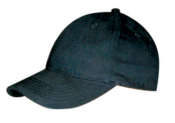 Black Brushed Cotton Stretchable Fitted Cap