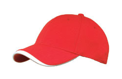 Red/White Poly Dobby Mesh Stretchable Fitted Cap