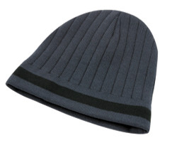 Black/Red Acrylic Knit Toque Single Stripe