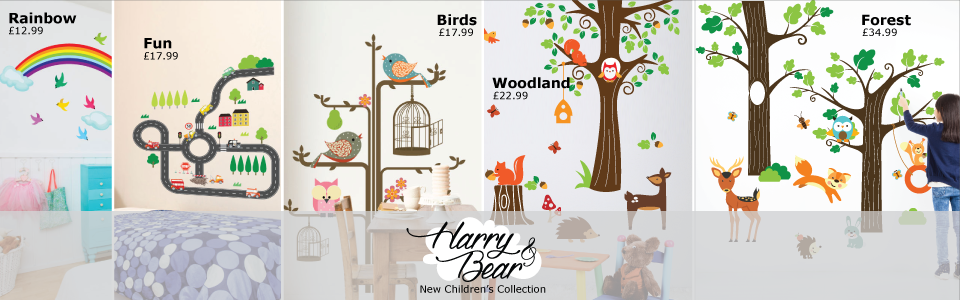 harry and bear wall stickers