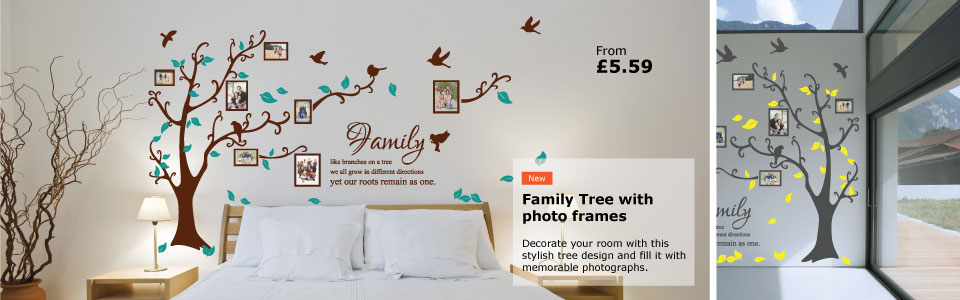 family tree wall stickers