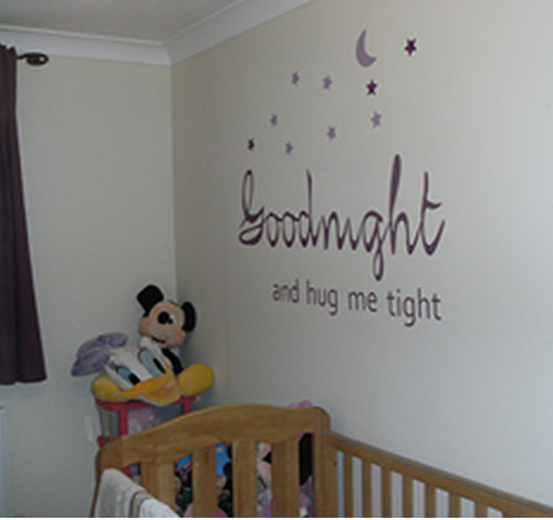 Goodnight and sleep tight wall sticker