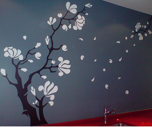 Magnolia Flower Wall Sticker