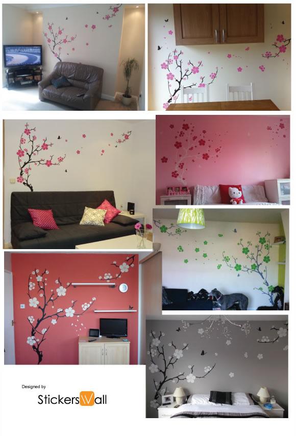 plum blossom wall sticker