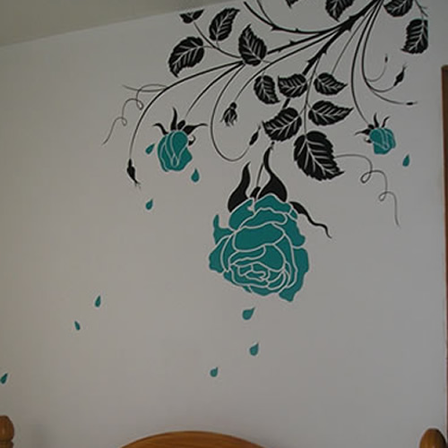 Stylish Rose Wall Sticker