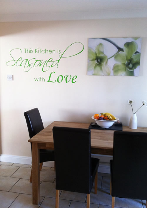 Kitchen is seasoned with love wall quote sticker