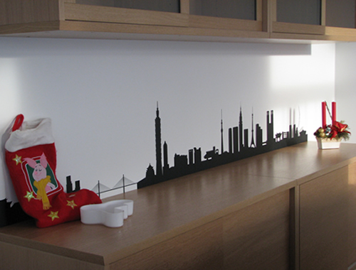 skyline wall stickers