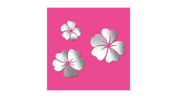 flower mirror wall stickers