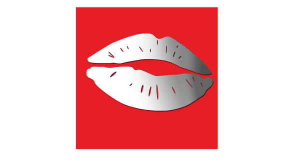 lips mirror wall stickers