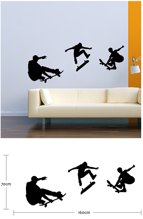 Skater Boy Wall Stickers