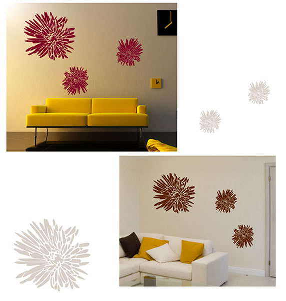 Chrysanthemum Flower Wall Stickers