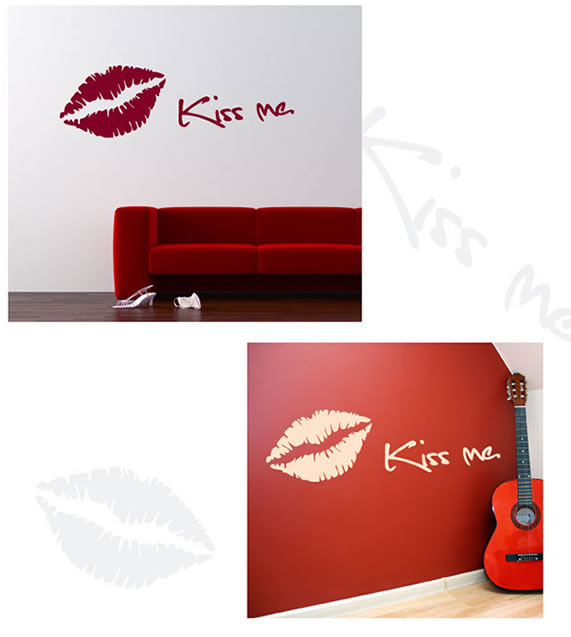 Kiss Me Lip Wall Sticker