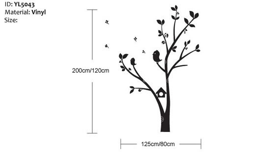 Tree and bird wall sticker