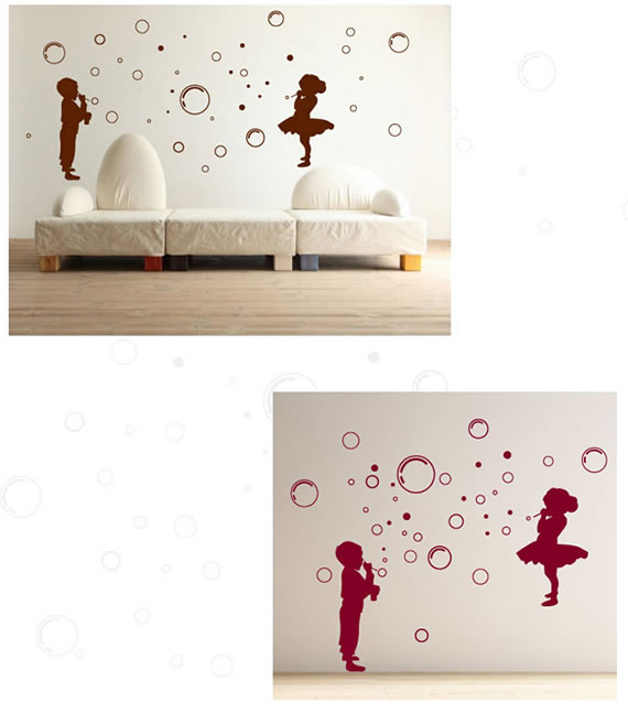 Kids & Bubbles Wall Sticker