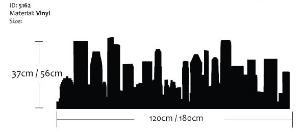 Singapore Skyline Wall Sticker